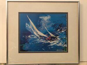 "LeRoy Neiman ""Sailing"" Print 1977, 10 1/2"" x 8 1/2"" (Image), 16"" x 14"" (Frame)"