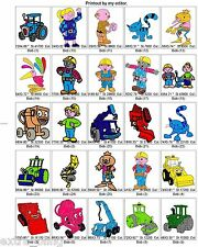 USB 10600  DISNEY, CARTOON, ANIMAL, CHILD BROTHER EMBROIDERY MACHINE DESIGNS PES