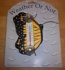 "NEW THERMOMETER OUTDOOR WINDOW WEATHER OR NOT ""BUTTERFLY"""