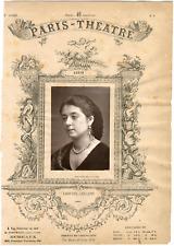 Quinet Alexandre, Paris-Théâtre, Leonide Leblanc (1842-1894), actrice Vintage al