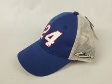 Chase Elliot #24 NASCAR Ball Cap Trucker Hat NEW Blue Gray Grey. Signatures