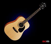 Cort AD810 Dreadnought Steel String Acoustic Guitar Natural Satin New w Warranty