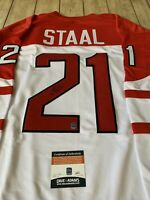 Eric Staal Autographed/Signed Jersey COA Team Canada