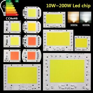 Led Chip Cob 10w 20w 30w 50w 100w 200w 230v Cool Warm Full Spectrum Flood Light