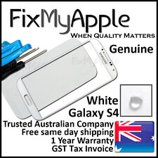 Samsung Galaxy S4 Genuine i9500 i9505 White Front Glass Screen Lens Replacement