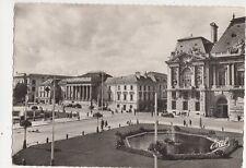 Tours Place Jean Jaures & Palais de Justice France RP Postcard 326a
