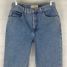 St. John's Bay Petite Womens 12P High Rise Med Wash 100% Cotton Tapered Jeans