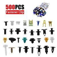 500Pcs Plastic Mixed Auto Car Fastener Clip Bumper Fender Trim Rivet Door Panel