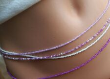 "FOUR STRAND BEAUTIFUL AND SEXY ""Infinity wrap Around"" WAIST BEADS, BELLY CHAINS"