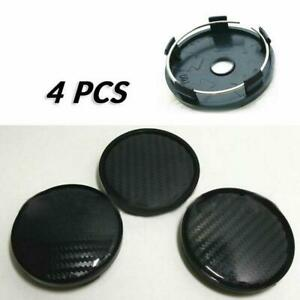 4 PCS 60*58mm Carbon Fiber Surface Auto Car Motors Wheel Center Hub Caps Cover