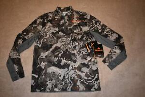 Nomad Men's Cooling 1/4 Zip Veil Camo Top Size Small N1200005-952 NWT