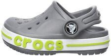 Crocs Classic Bayaband Clogs Kids Shoes Gray Green White Slipper Slides New Sz 2