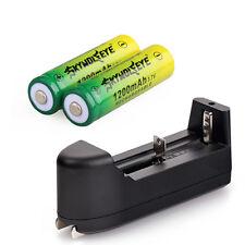 2pcs 14500 Rechargeable Battery 3.7V 1200mAh Li-ion Batteries + Smart Charger