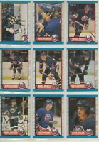 1989-90 O-Pee-Chee NEW YORK ISLANDERS Team Set - 14 Hockey Cards - OPC