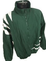 PreGame Athletic Jacket Mens Size XL Green White Long Sleeve Full Zip