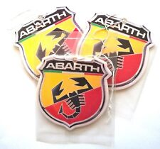 3x Abarth Car air freshener Fiat 500 600 595 Punto Grande, emblem from sticker