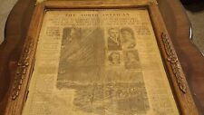 AUTHENTIC 1912 RMS TITANIC Disaster ORIGINAL NEWSPAPER FRAMED
