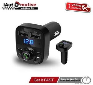 Wireless Car Kit FM Transmitter Bluetooth Radio MP3 Music Player USB Charger UK