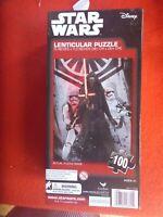STAR WARS LENTICULAR PUZZLE UNUSED 38.1CM X 28,4CM THE FORCE AWAKENS