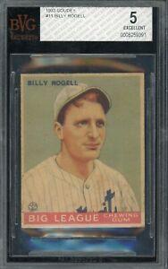 1933 Goudey #11 Billy Rogell Tigers BVG 5 !!