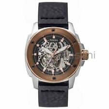 Fossil Original ME3082 Men's Modern Machine Black Leather Watch 50mm Automatic