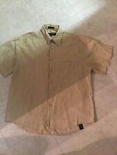 George& Marta Mens Button Down Short Sleeve Shirt Size; L Multi-Color