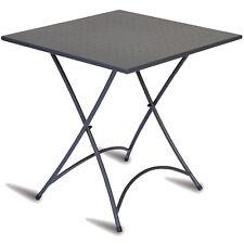 Tavolo pieghevole in alluminio quadrato color grigio antracite 70 cm