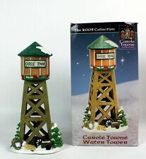 2003 Lemax Carole Towne Christmas Village Water Tower Building