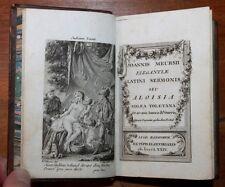 1781 Cazin Chorier Dialogues Saphiques Meursius Edition latine Reliure époque