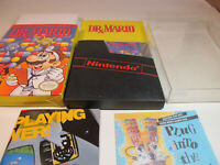 Dr. Mario (Nintendo, 1990) NES Game Excellent Shape Complete CIB with Poster