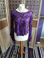 GOTHIC STRETCH PURPLE  LACE TOP BY DARK STAR USED FREE SIZE.