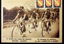 CPA Sport TOUR de FRANCE 1948 CYCLISME Etape DINARD NANTES LAMBRECHT BOBET VB10