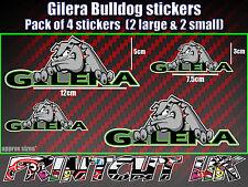 Gilera Bulldog Stickers x4 Runner SKP Typhoon RCR SMT fuoco nexus car van laptop