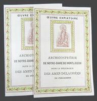 Archiconfrerie Notre Dame de Montligeon Confraternity Member Booklets 1930s