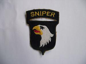 US101ST AIRBORNE DIVISION SNIPER  CLOTH PATCH