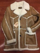 Schott Perfecto Brand Shearling Rancher Coat Genuine Sheepskin MADE IN USA XL 44