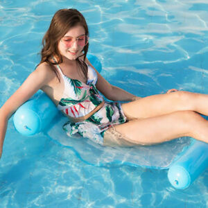 Floating Water Hammock Float Lounger With inflator Floating Toys Hammock ^lk