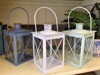 Shabby Metal Lantern Vintage Candle Tea Light Holder Wedding Venue Decoration