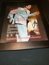 Talking Heads Stop Making Sense Rare Original Promo Poster Ad Framed!