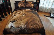 3d Lion Comforter Bedding Set Queen 3pcs Animal Print Quilt Standard Pillowcases