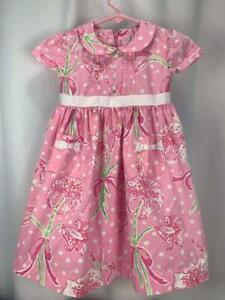 Lily Pulitzer Pink Dress Flower Pattern Petticoat Size 3T