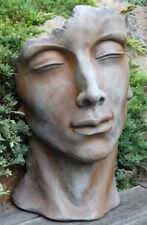 Portrait Gesicht MANN H53cm Rosteffekt Skulptur Steinfigur Steinguss Vidroflor