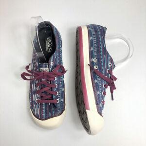 Keen Coronado II Blue Purple Canvas Aztec Sneakers Womens Size US 9.5 Vulcanized