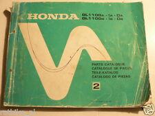 HONDA GOLDWING GL1100 A,IA,DA, GL1100 B,IB,DB PARTS CATALOGUE NO 2 1980