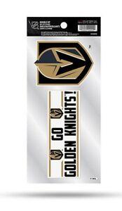 Vegas Golden Knights Double Up Sticker Sheet Die Cut Decal New Team Color 2 Logo