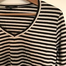 Weekend Max Mara Women's top, Size Large, v-neck, Striped
