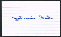 Johnnie Seale signed autograph auto 3x5 index card Baseball Player B3173
