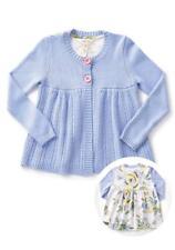Matilda Jane I SPY CARDIGAN 8 Blue Thin Knit Sweater Floral Back Panel NWT