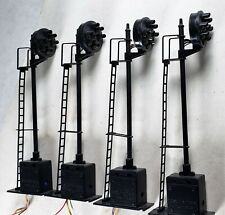 Lot of 4 O scale, Z Stuff, DZ-1060 7 light Signals – All working!
