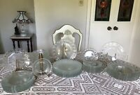Vintage -Arcoroc France - Clear Solid Dinnerware Set - 53  Pieces